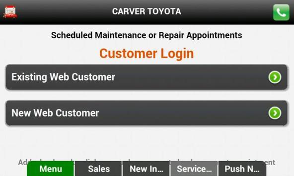 Carver Toyota apk screenshot