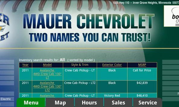 Mauer Chevrolet apk screenshot