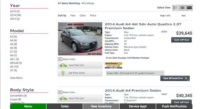 Prestige Audi apk screenshot