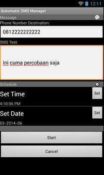 AutoSMS Send & Reply apk screenshot