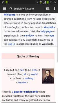 WikiSurfer for Wikiquote apk screenshot