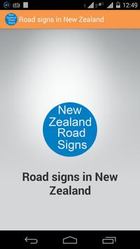 New Zealand Traffic Signs poster