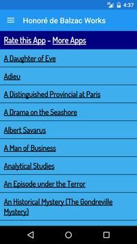 Honoré de Balzac Books apk screenshot