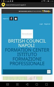 British council Napoli poster