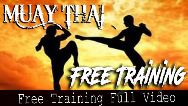 muay thai training free poster