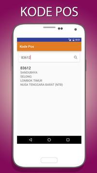 Kode POS Indonesia apk screenshot