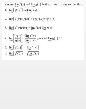 Rumus Lengkap Kalkulus apk screenshot
