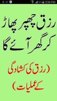 Rizq Chappar Phaar Ker Aye Ga poster