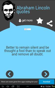 Abraham Lincoln Quotes apk screenshot