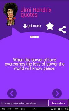Jimi Hendrix Quotes apk screenshot