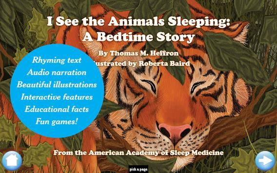 I See the Animals Sleeping poster