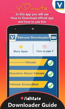 Guide for Vdmate apk screenshot