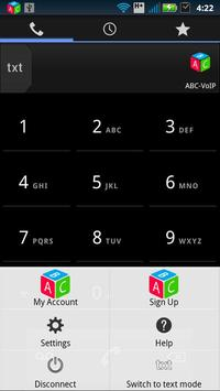 ABC-VoIP SIP phone dialer apk screenshot