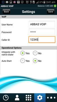 ABBAS VOIP apk screenshot