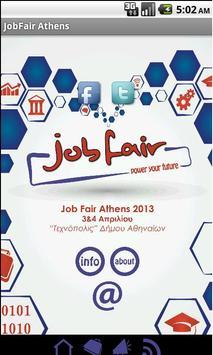 JobFair Athens poster