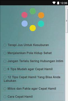Tips Agar Cepat Hamil apk screenshot