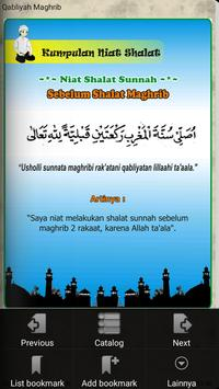Kumpulan Niat Shalat poster