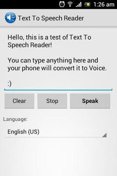 Text To Speech Reader poster