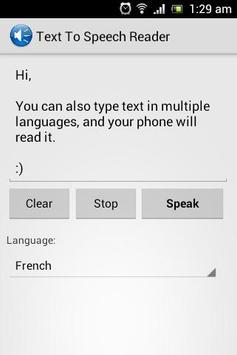 Text To Speech Reader apk screenshot