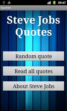 Steve Jobs Quotes poster