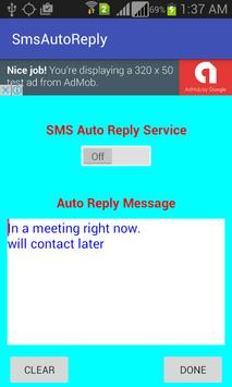 Sms Auto Reply poster