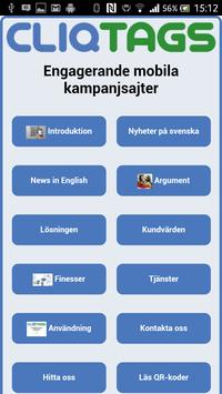 CliqTags Info (Swedish) poster