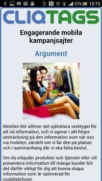 CliqTags Info (Swedish) apk screenshot
