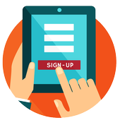 Clover Customer Sign Up icon