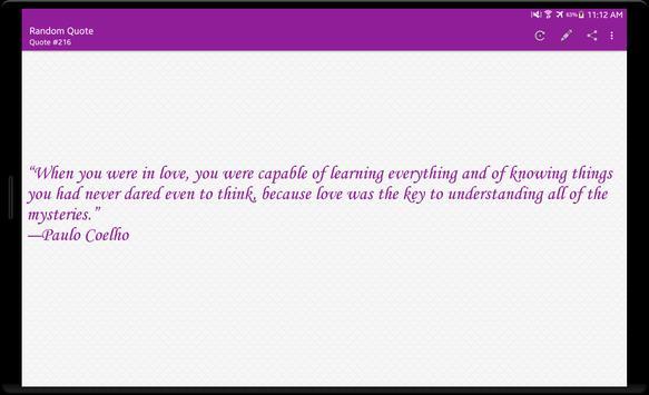 Random Quote apk screenshot