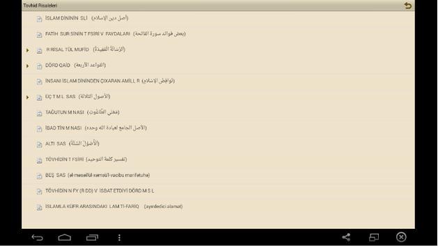 Tövhid Risalələri apk screenshot