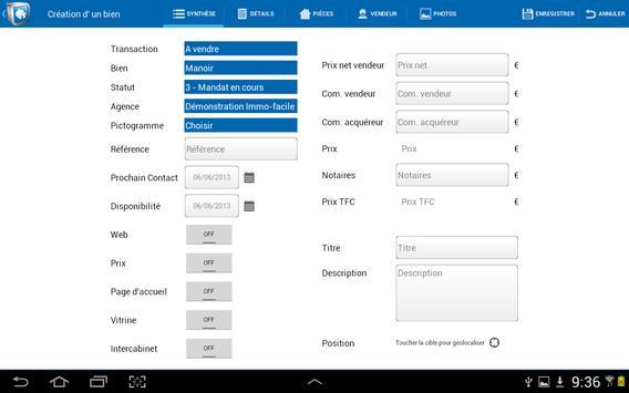 Immo-facile pour Tablettes apk screenshot