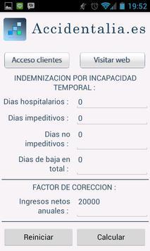 Calculadora de Indemnizaciónes apk screenshot