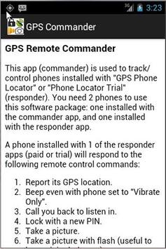 GPS Phone Commander apk screenshot