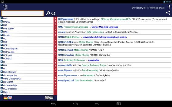 IT Dictionary DE-EN apk screenshot