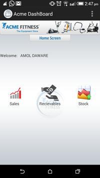 ACME Dashboard apk screenshot