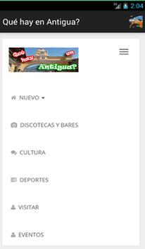 Qué hay en Antigua? apk screenshot