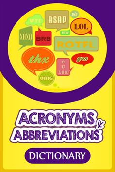 Acronyms & Abbreviations Dict poster