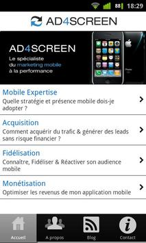 Ad4Screen (mobile marketing) poster