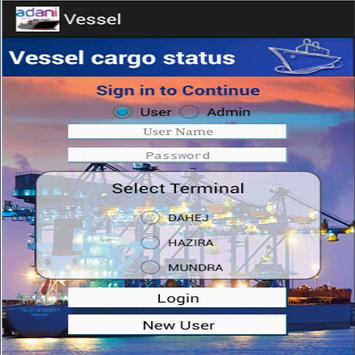 Vessel Cargo Tracking-Adani poster