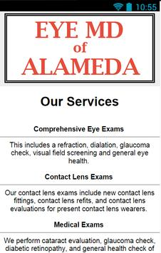EyeMD of Alameda apk screenshot
