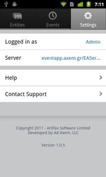Artifax Event apk screenshot