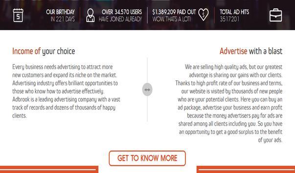 AdBrook - Advertise, Get Paid apk screenshot