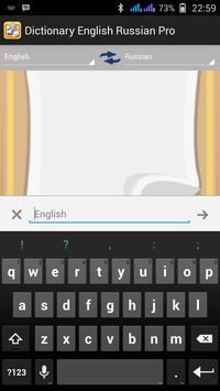 Dictionary English Russian Pro apk screenshot