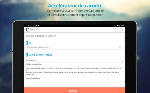 Cadremploi: offre emploi cadre apk screenshot