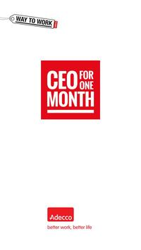 Adecco - CEO for One Month poster
