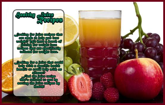 Juice recipes for health poster