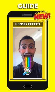 Guide new lenses for snapchat apk screenshot