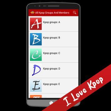 All K-pop Groups And Members apk screenshot