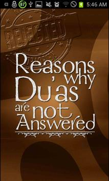 Reasons why Dua is unanswered poster