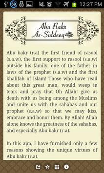 Abu Bakr As-Siddeeq r.a. apk screenshot